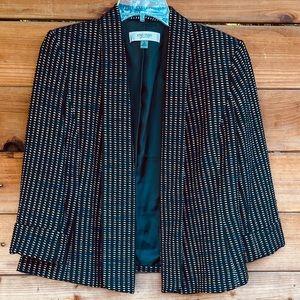 Jones Studio 3/4 sleeve patterned fabric blazer
